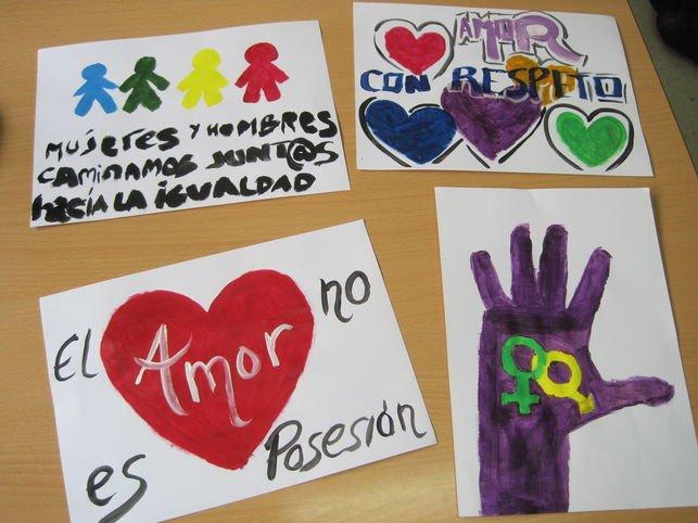 dibujos escolares por la igualdad de género